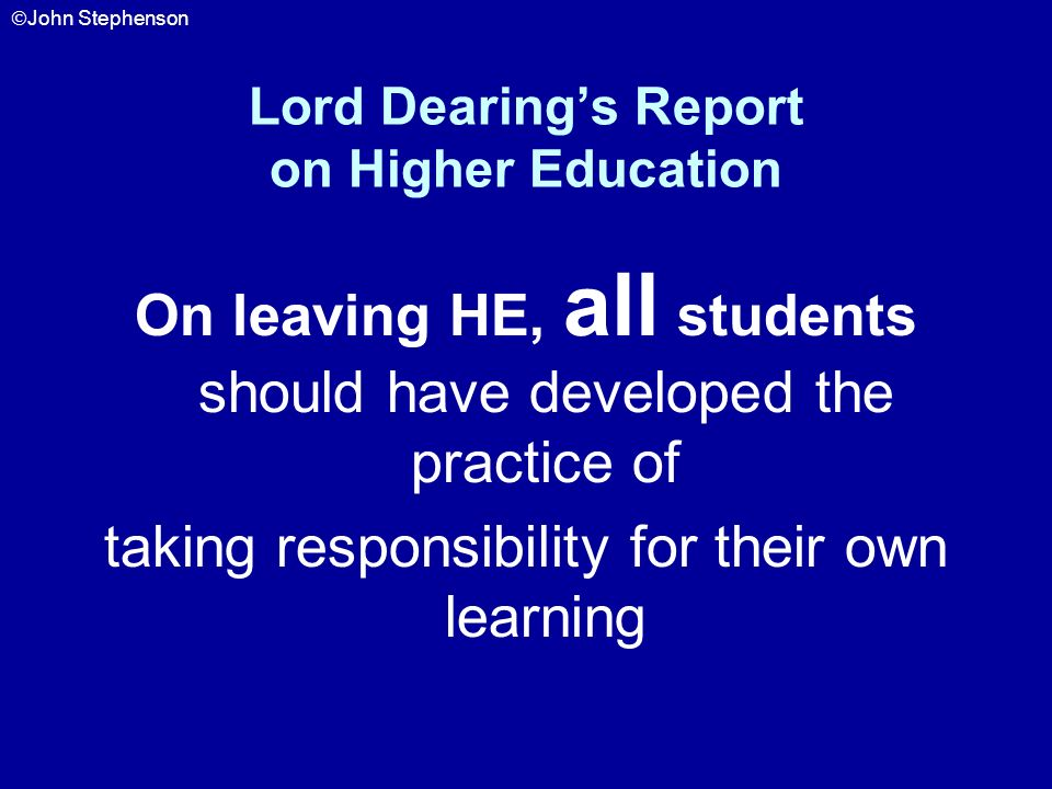 Lord Dearing's Report on Higher Education