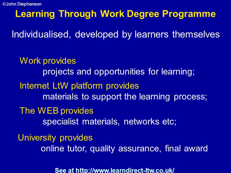 Learning Through Work Degree Programme