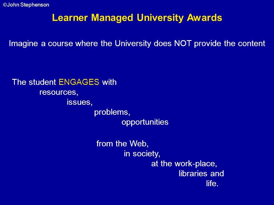 Learner Managed University Awards
