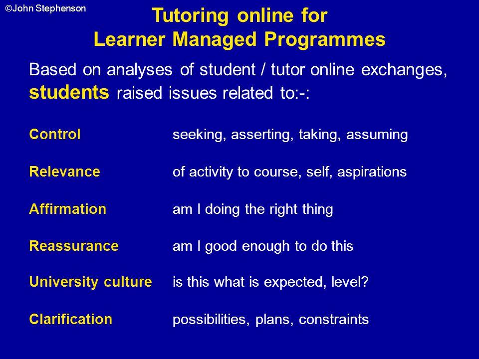 Learner Managed Programmes