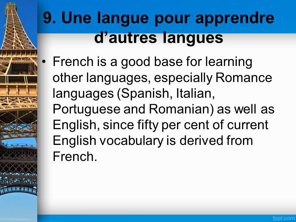 9. Une langue pour apprendre d'autres langues