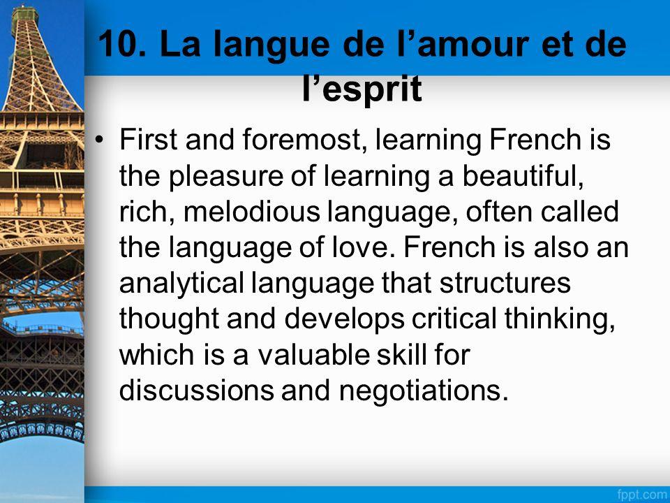 10. La langue de l'amour et de l'esprit