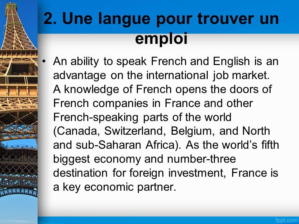 2. Une langue pour trouver un emploi