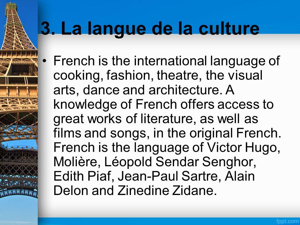 3. La langue de la culture