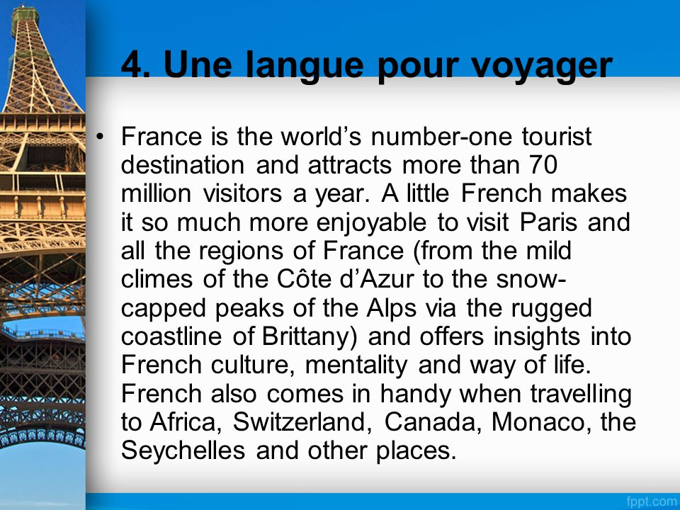 4. Une langue pour voyager