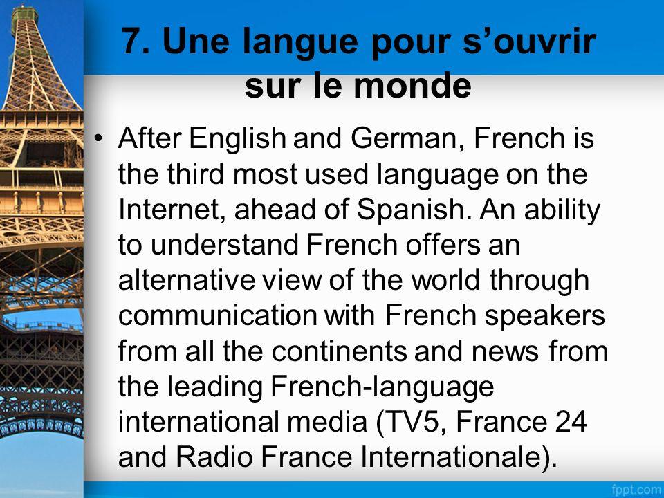 7. Une langue pour s'ouvrir sur le monde