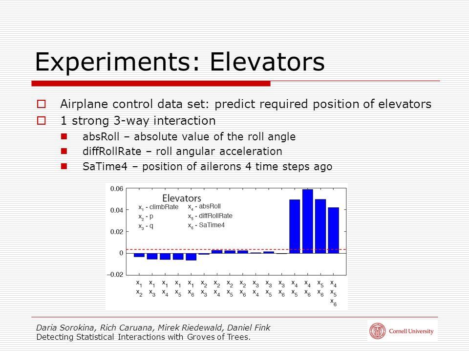 Experiments: Elevators