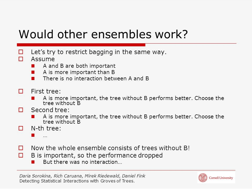 Would other ensembles work