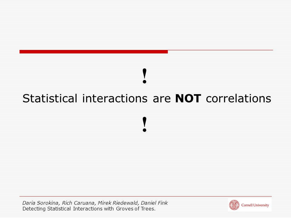 Statistical interactions are NOT correlations