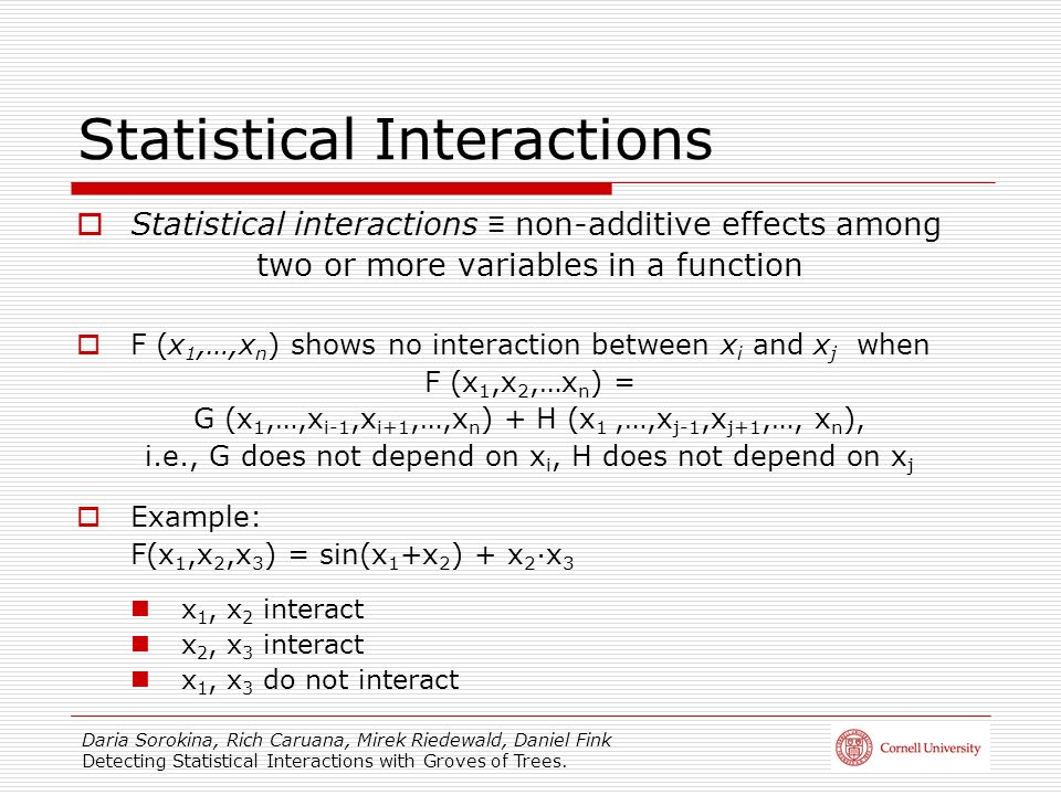 Statistical Interactions