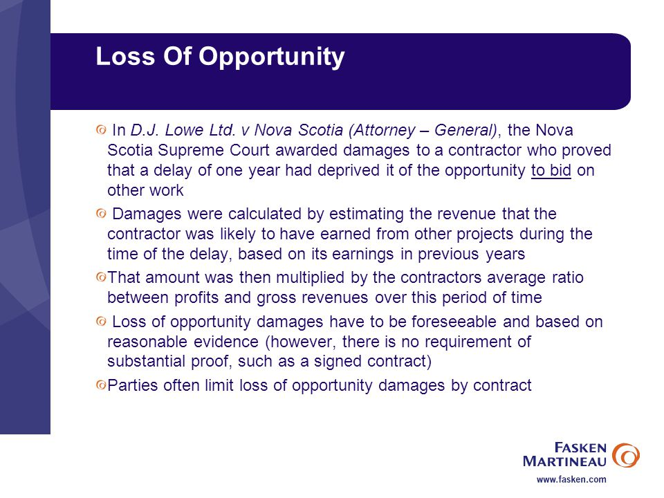 Loss Of Opportunity