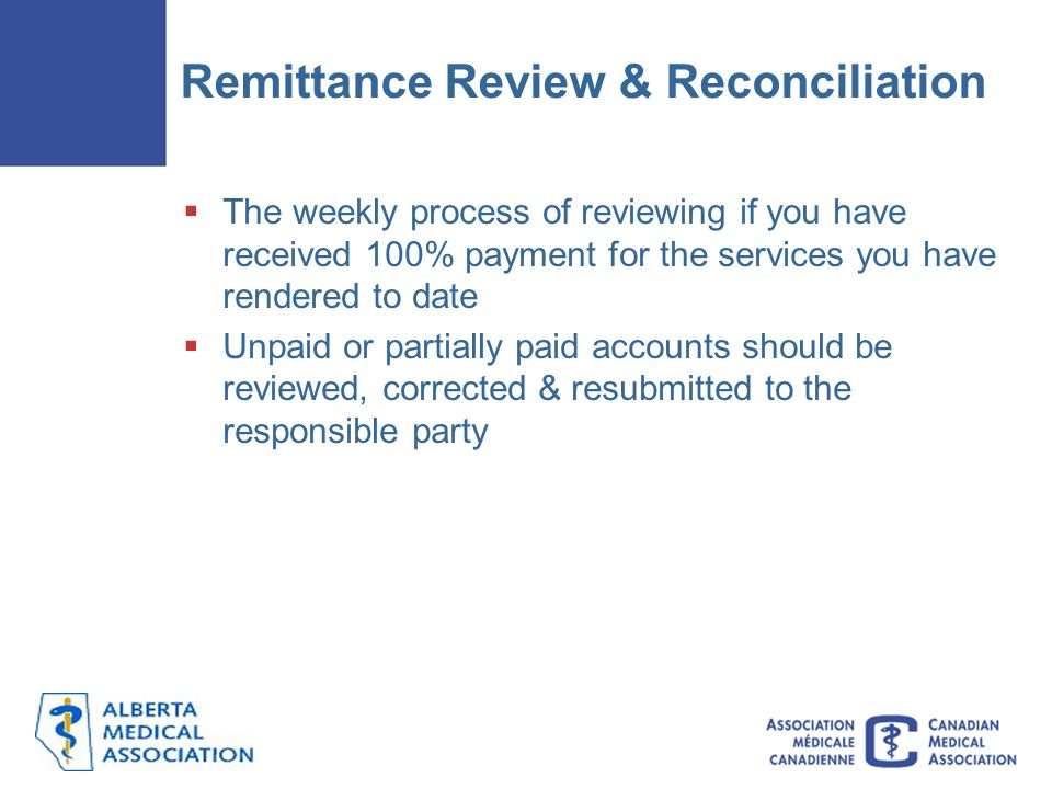 Remittance Review & Reconciliation