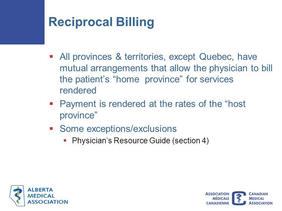Reciprocal Billing