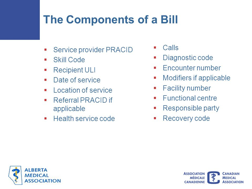 The Components of a Bill