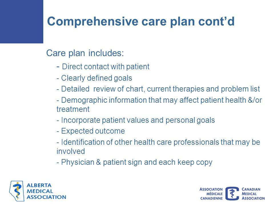 Comprehensive care plan cont'd