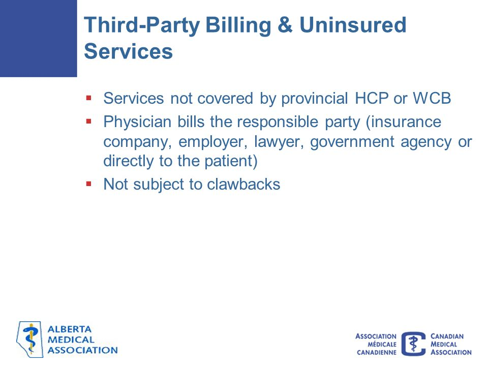 Third-Party Billing & Uninsured Services