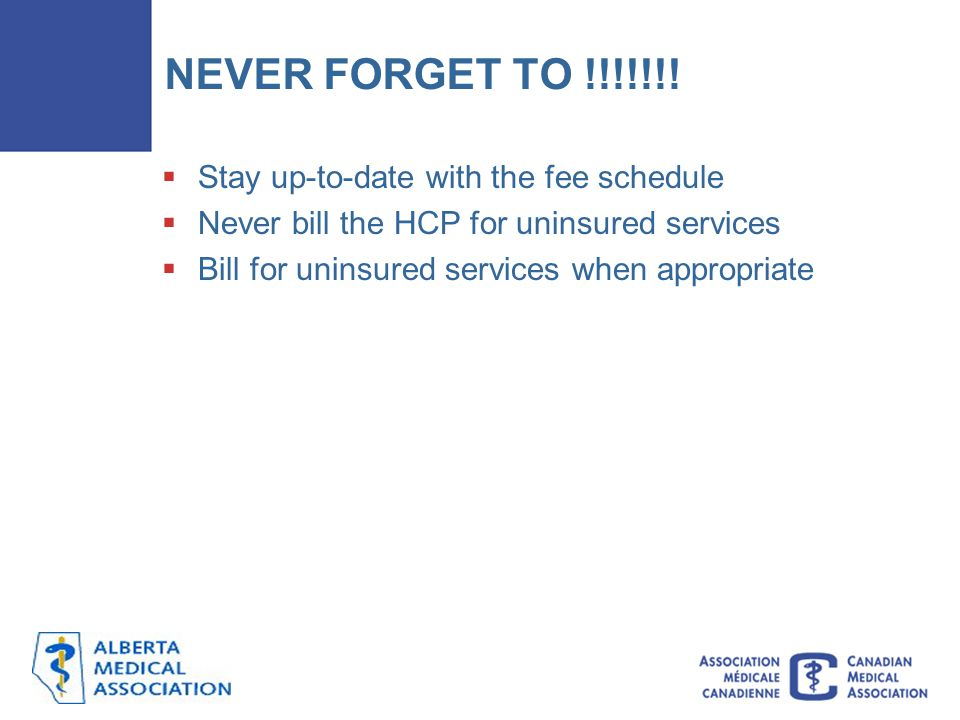 NEVER FORGET TO !!!!!!! Stay up-to-date with the fee schedule