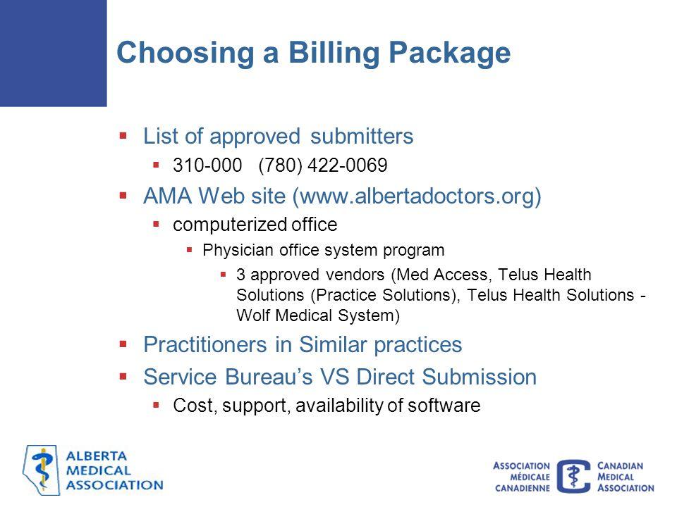 Choosing a Billing Package