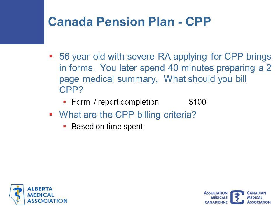 Canada Pension Plan - CPP