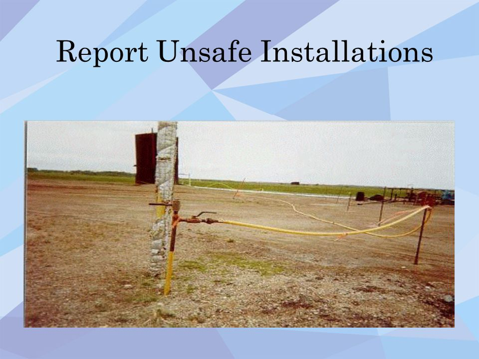 Report Unsafe Installations