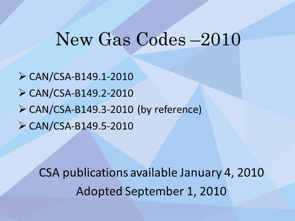 CSA publications available January 4, 2010