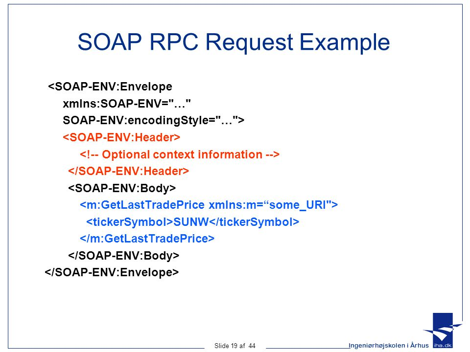 SOAP RPC Request Example