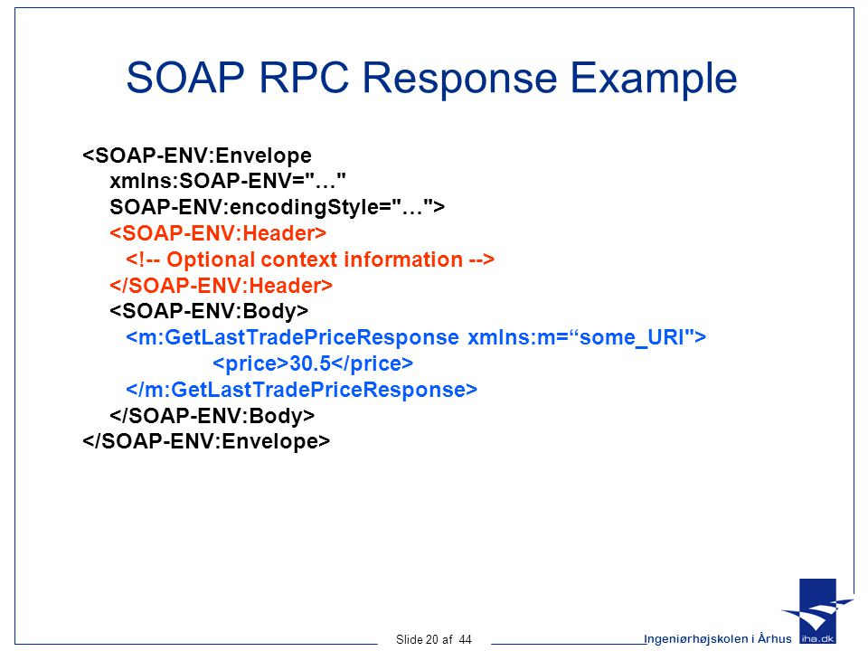 SOAP RPC Response Example