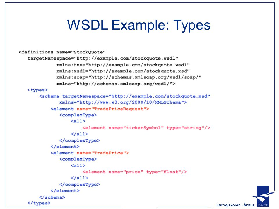 WSDL Example: Types