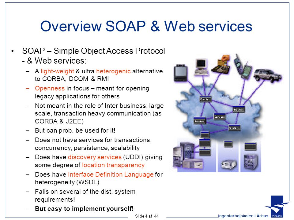 Overview SOAP & Web services