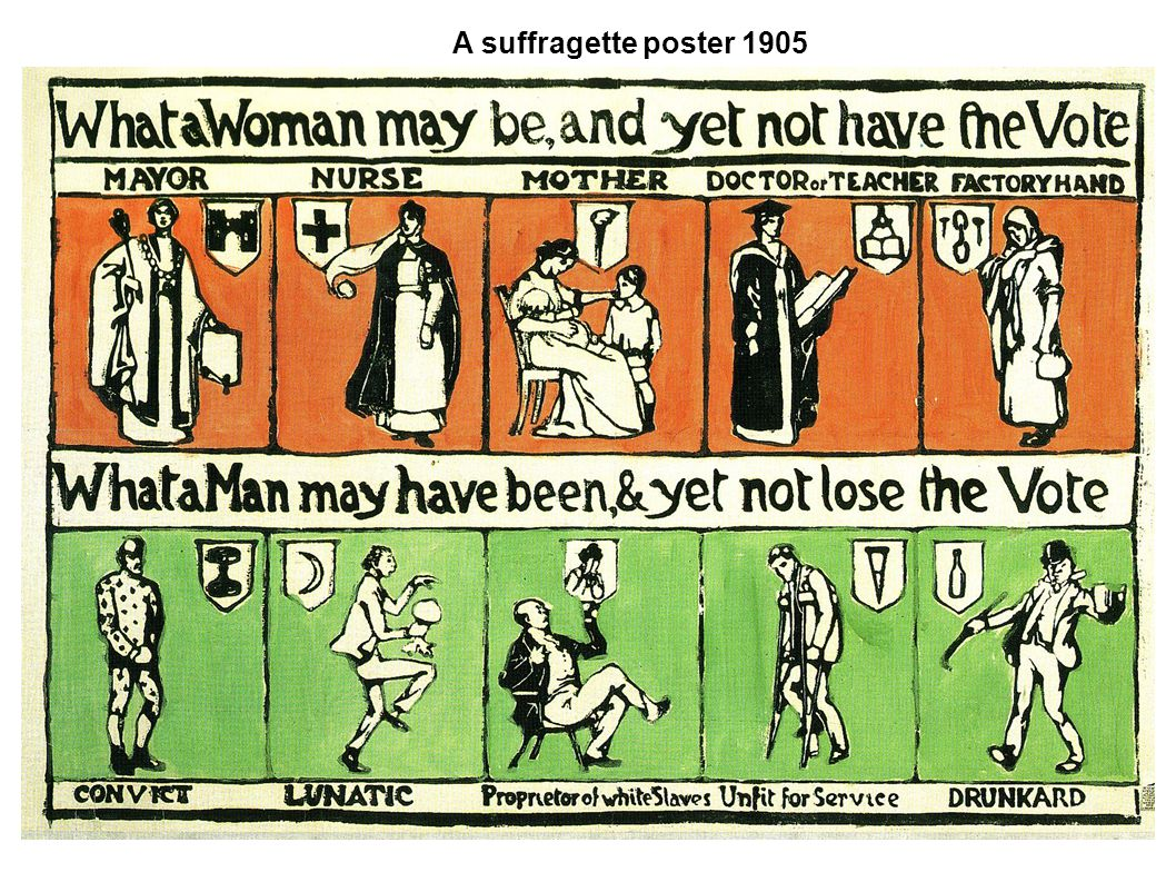 A suffragette poster 1905