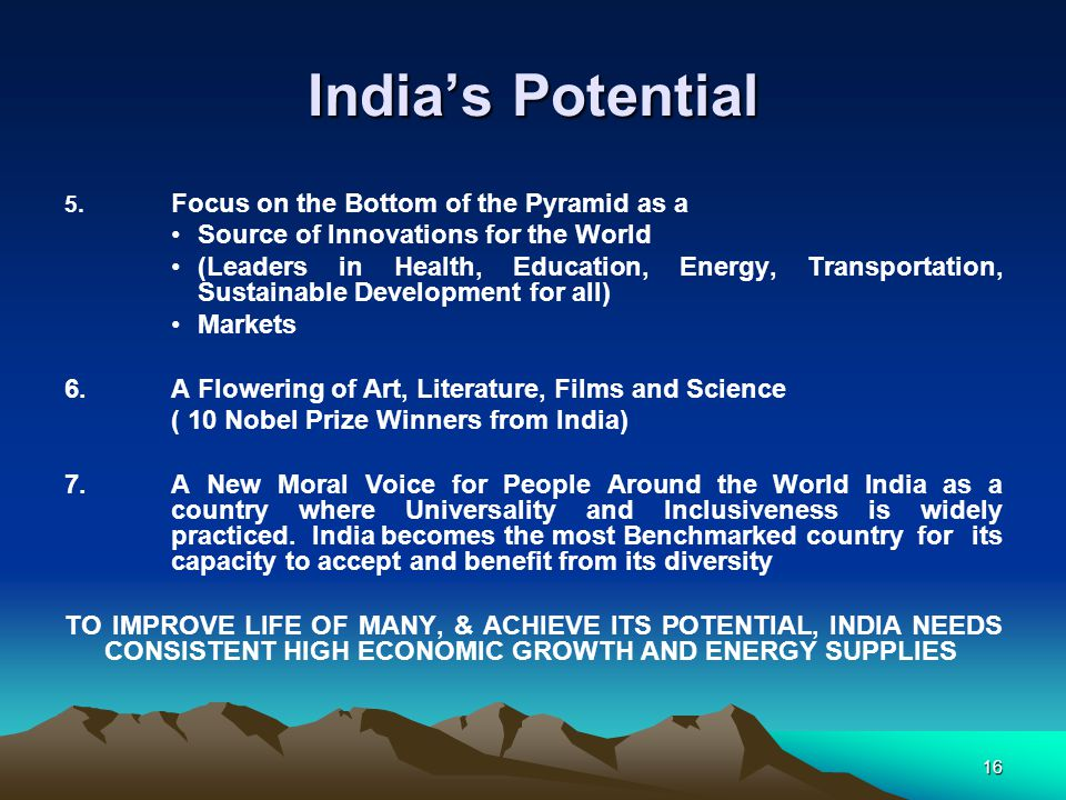 India's Potential Source of Innovations for the World