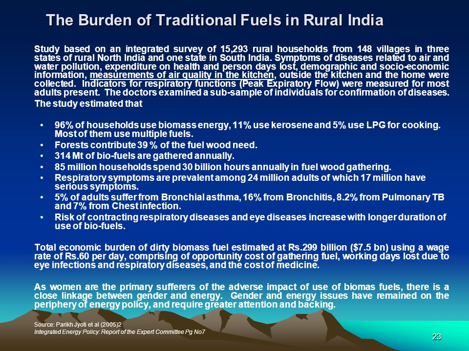 The Burden of Traditional Fuels in Rural India
