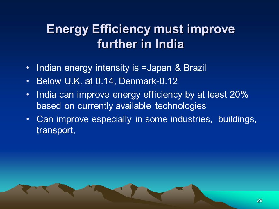 Energy Efficiency must improve further in India