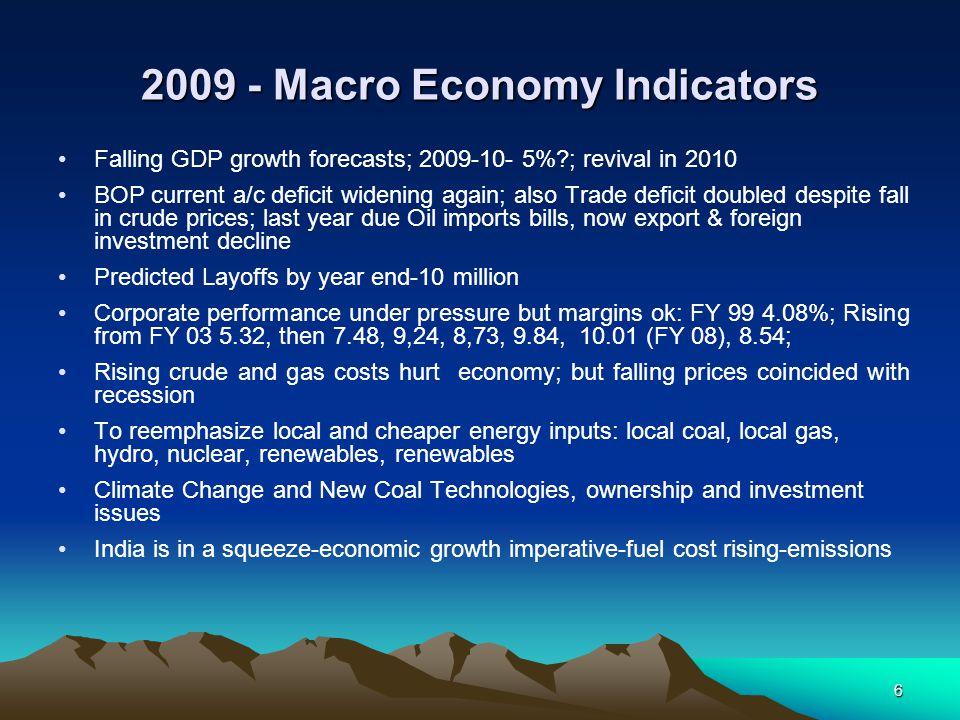2009 - Macro Economy Indicators