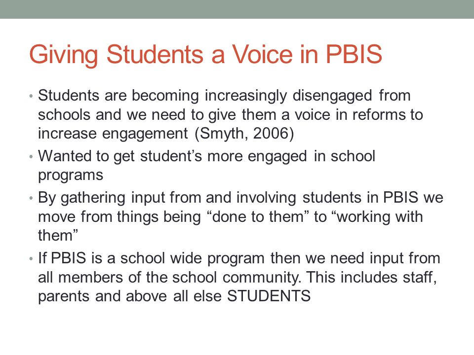 Giving Students a Voice in PBIS