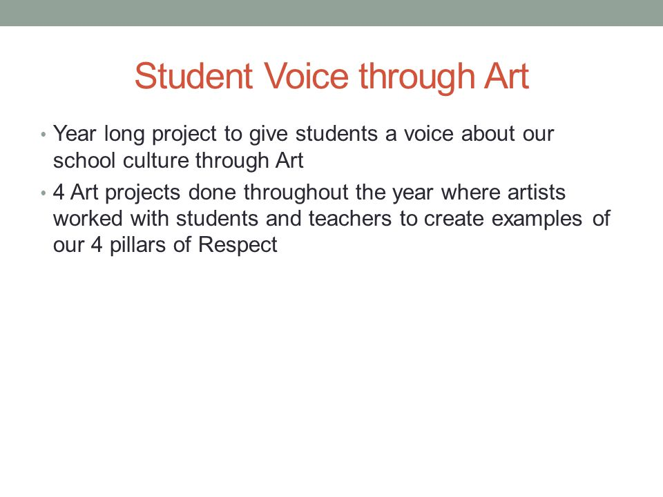 Student Voice through Art