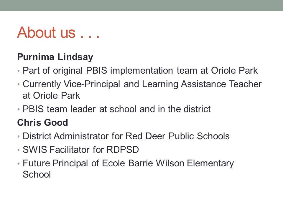 About us . . . Purnima Lindsay