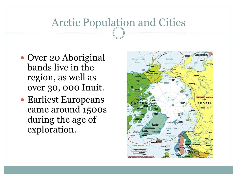 Arctic Population and Cities