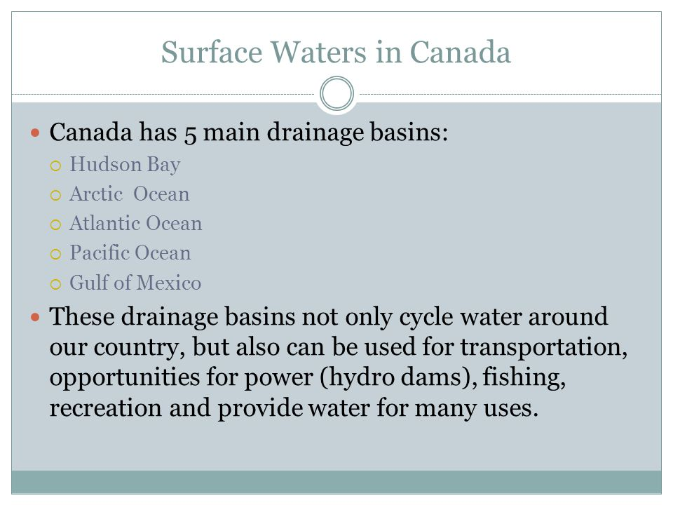 Surface Waters in Canada