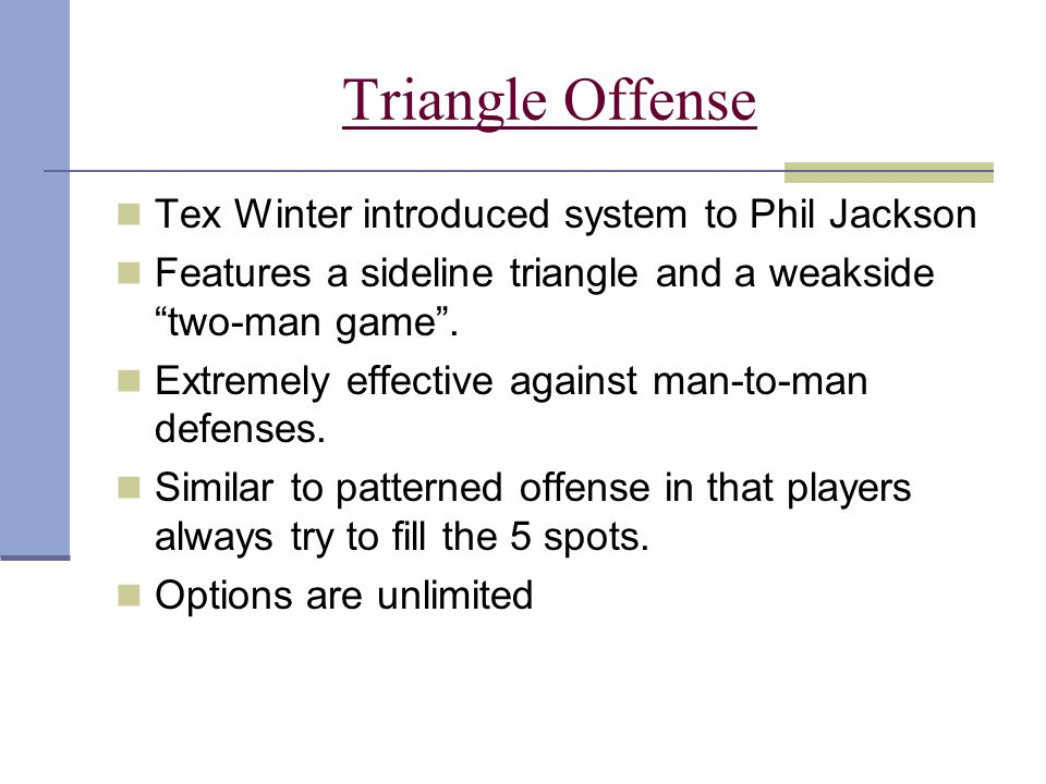 Triangle Offense Tex Winter introduced system to Phil Jackson