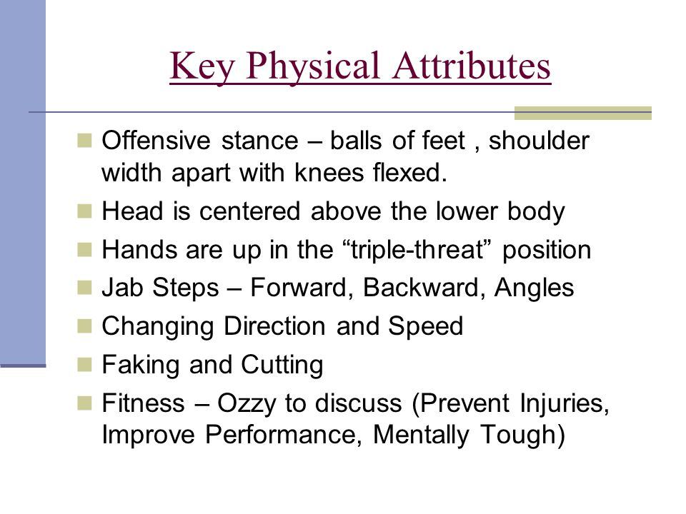 Key Physical Attributes