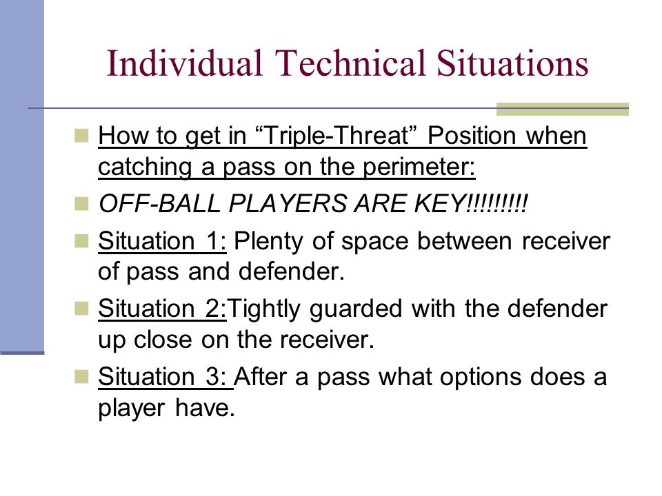 Individual Technical Situations