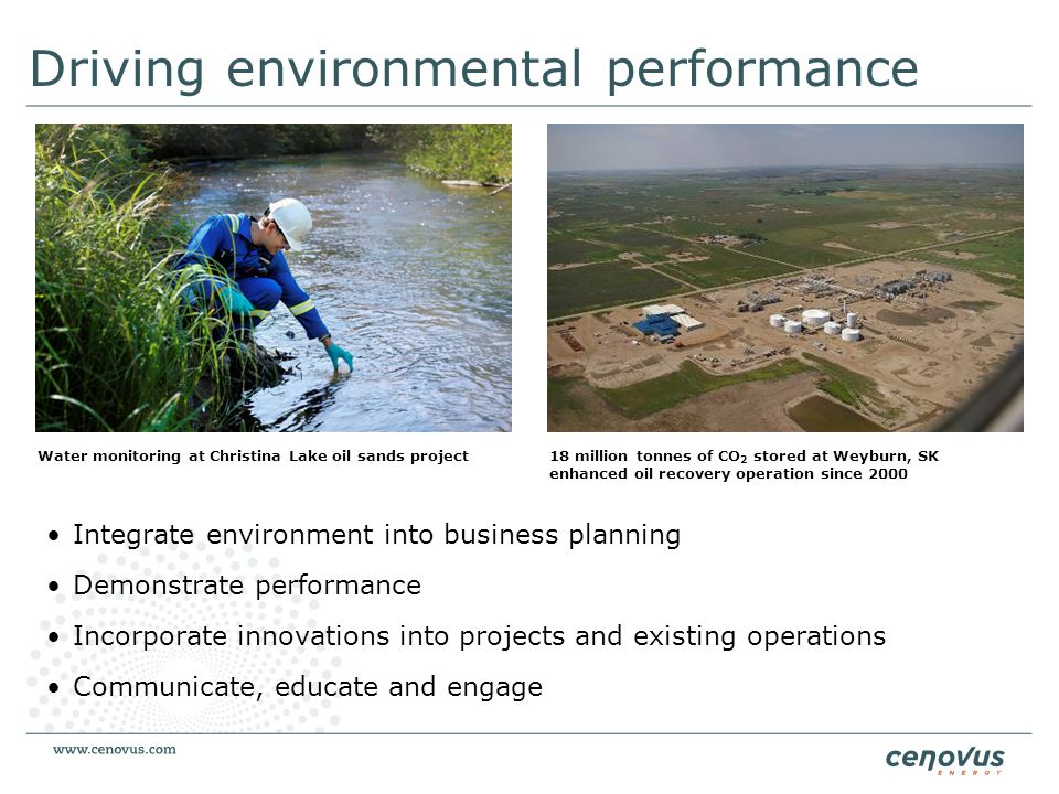 Driving environmental performance