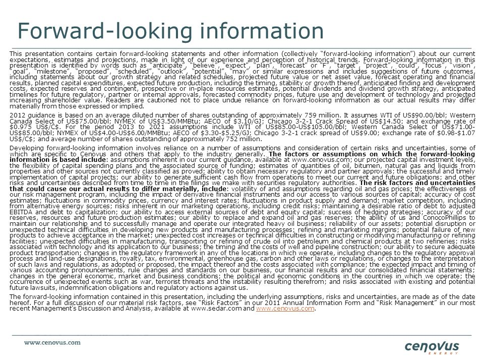 Forward-looking information