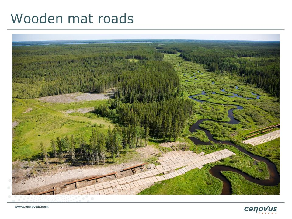 Wooden mat roads Innovation doesn't have to mean complex systems or products.