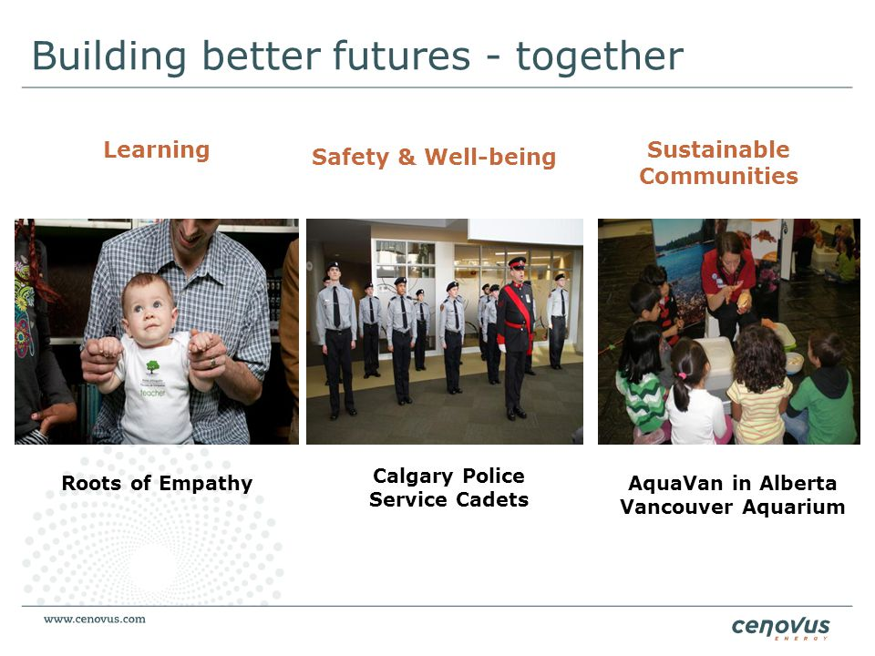 Building better futures - together