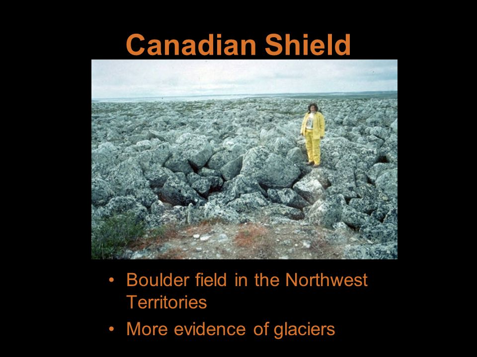 Canadian Shield Boulder field in the Northwest Territories