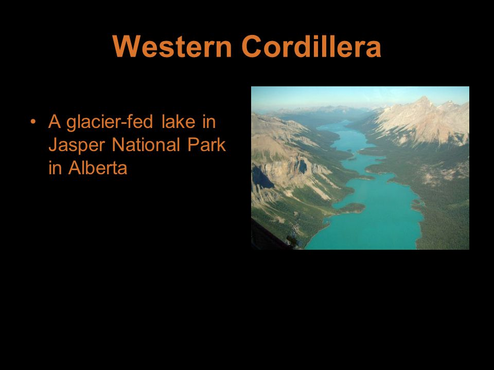 Western Cordillera A glacier-fed lake in Jasper National Park in Alberta
