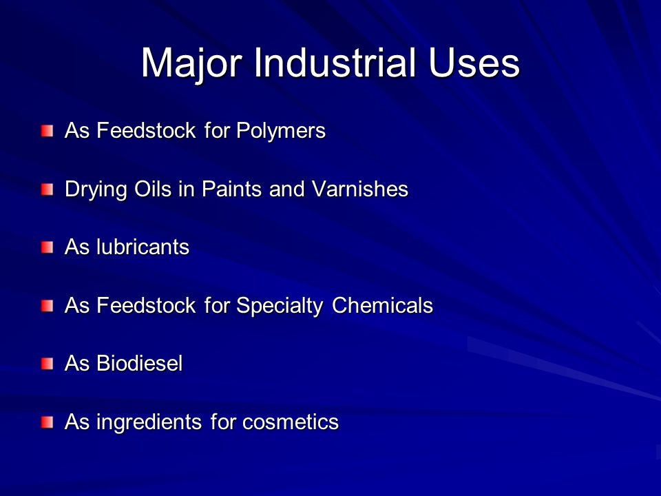 Major Industrial Uses As Feedstock for Polymers