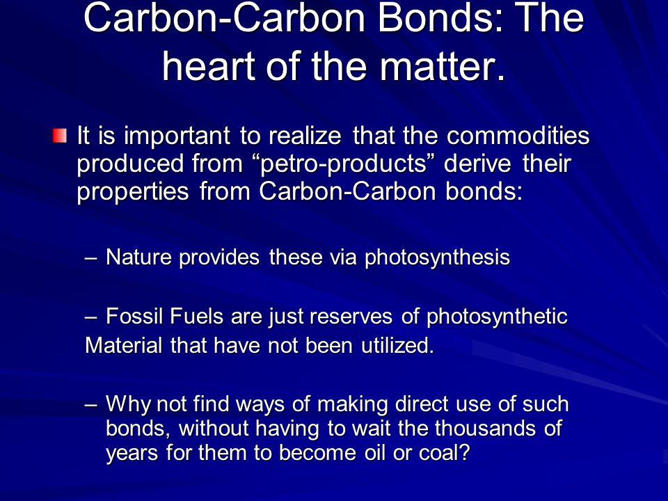 Carbon-Carbon Bonds: The heart of the matter.